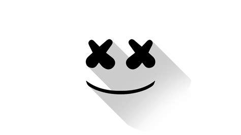 marshmello eyes marshmello dj material design logo hd music 4k
