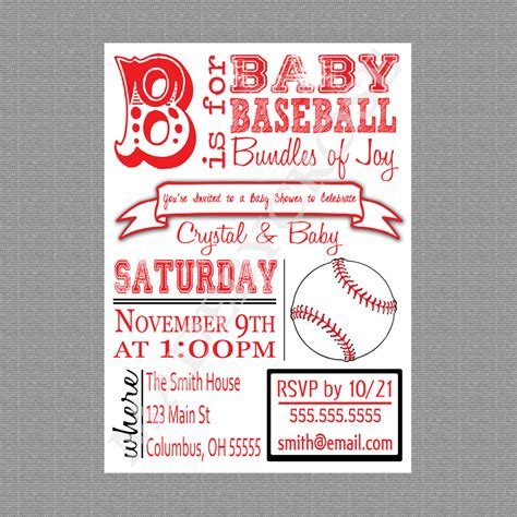 baseball baby shower invitation templates photo free printable baseball baby shower image