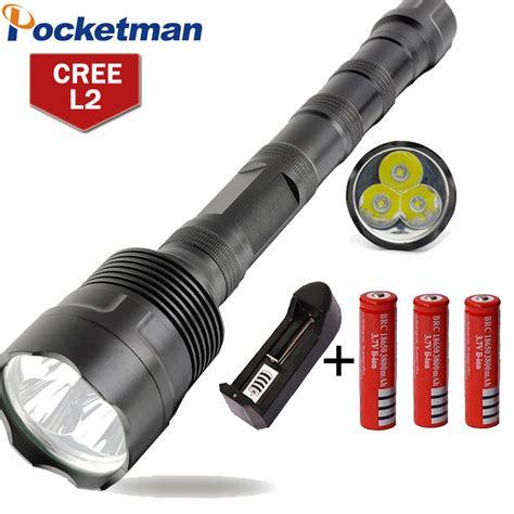 Led Cree 6 Mata led flashlight 8000 lumens 3 xml t6 5 modes extendable led