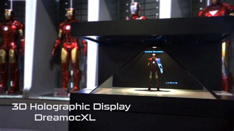 leovation hot toys iron man holographic display