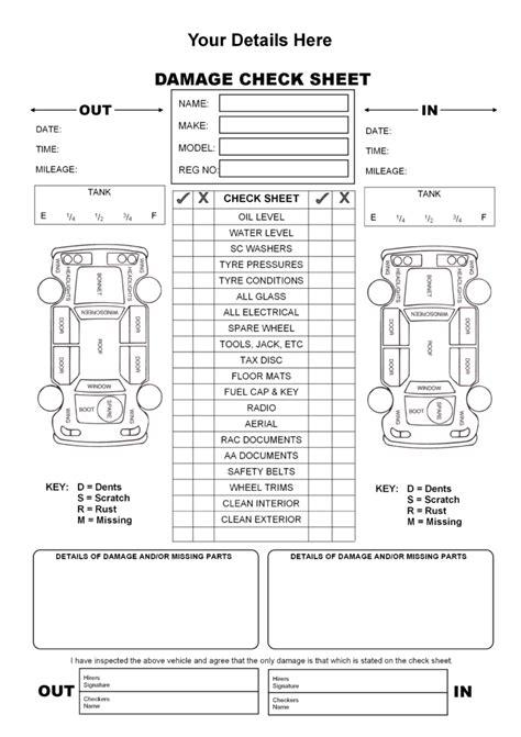 formatocontratogif  projects   vehicle inspection vehicle maintenance log