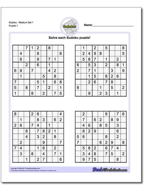 printable sudoku puzzles medium 1 sudoku