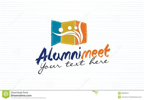 design poster reuni alumni meet logo design stock vector illustration of