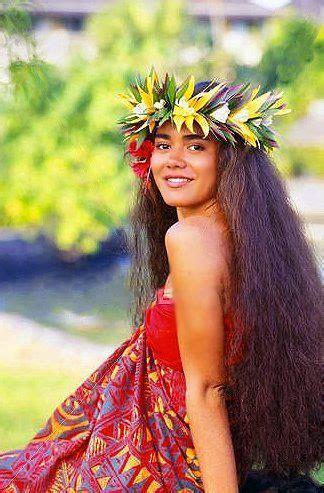 hawaii hairdos hawaiian pretty hawai i pinterest hair type my