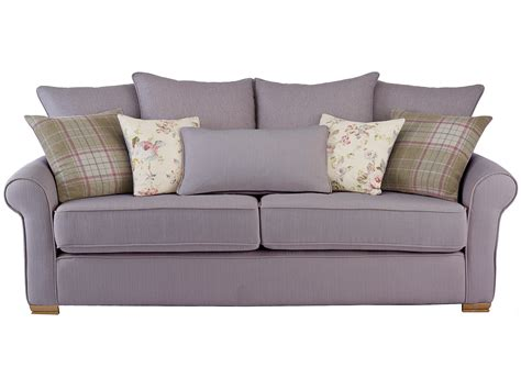 large pillows for couch back hexham carrie large sofa with pillow back in silver with