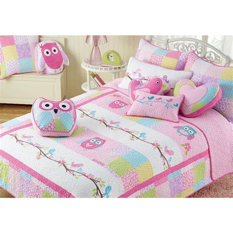 Set Owl Pink this pink owl bedding transforms your child s room into a