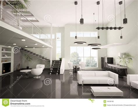 Apartment Interior Design Gallery Modern Apartment Interior 3d Render Stock Illustration