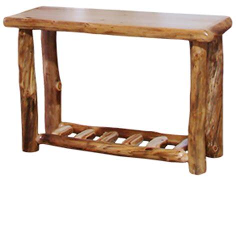 Log Sofa Table by Sofa Tables Rustic Log
