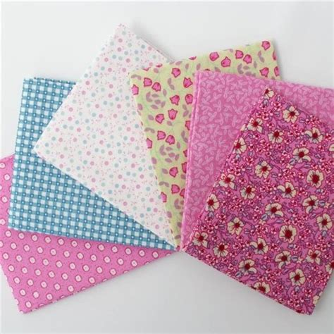 Pink Patchwork - pastel patchwork pink quarters 6 pack
