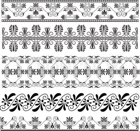 design pattern nedir antike griechische ornament set f 252 r design stock vektor