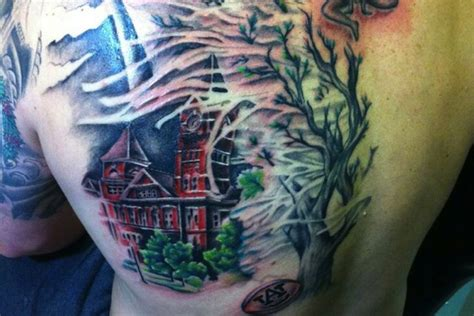 auburn tattoo photo auburn grad gets back of toomer s