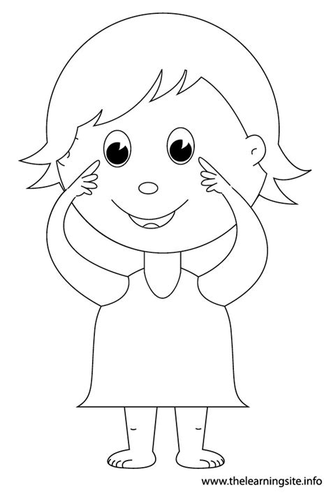 eye coloring pages for preschool the learning site