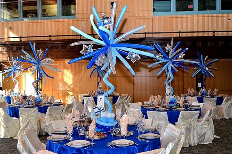 bar mitzvah centerpieces bar bat mitzvahs gold balloon centerpieces