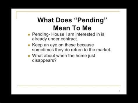 Homes For Sale In Cincinnati And What Does Quot Pending Quot Mean Youtube