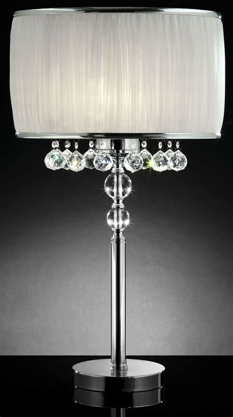 hanging crystal table l chloe white hanging crystal table l from furniture of