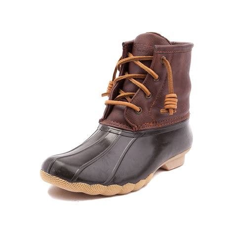youthtween sperry top sider saltwater boot brown