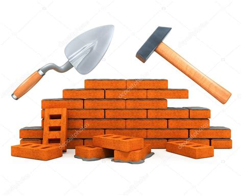 Darby and hammer building tool house construction isolated
