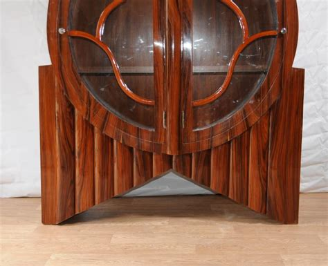 art deco furniture designers art deco display cabinet bookcase rosewood vintage