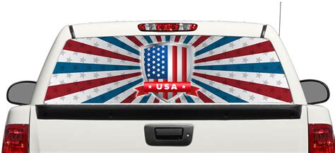 Window Decals Usa by Product American Flag Usa Rear Window Decal Sticker