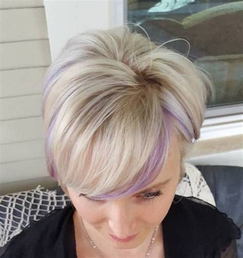 highlighting pixie hair at home 22 sassy purple highlighted hairstyles for short medium