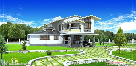 2 stories house 2 story house plan 2490 sq ft indian home decor