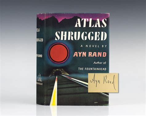 News Atlas Shrugged by Atlas Shrugged Ayn Rand Edition Signed Book