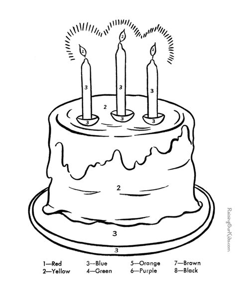 easy birthday coloring pages printable color by number coloring pages az coloring pages