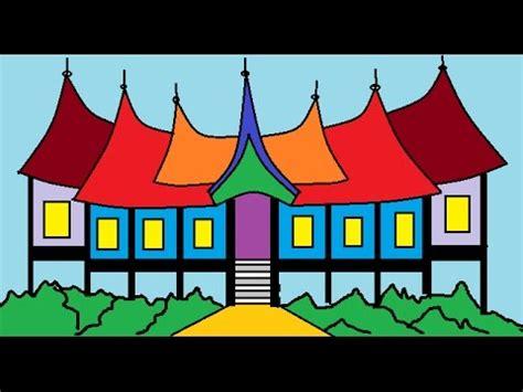 membuat rumah gadang gambar cara menggambar rumah gadang dan menggambar rumah