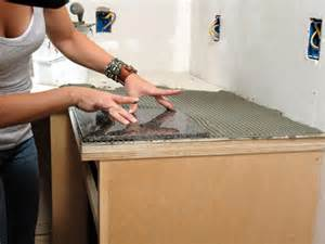 How To Install Kitchen Countertops How To Install A Granite Tile Kitchen Countertop How Tos Diy