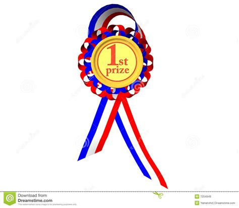 first prize medal stock illustration image of achievement