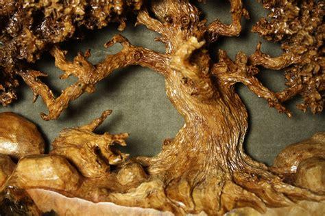 picnic tree  oak tree wood carving  maple burl