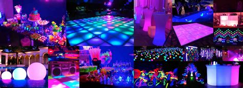 neon themed events neon disco party birthday party packages in dubai