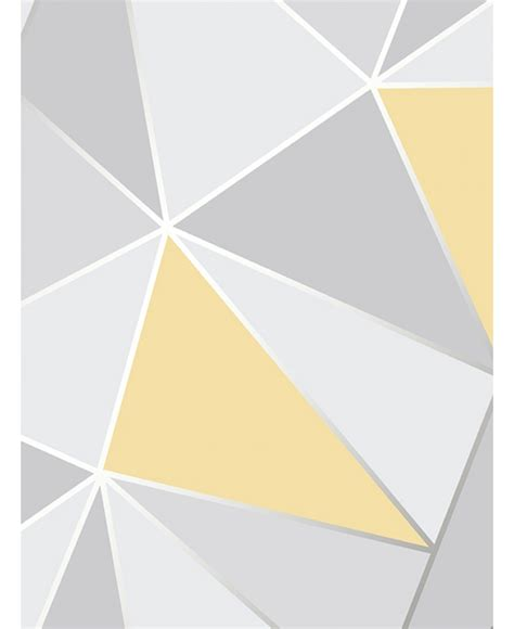 grey yellow apex geometric wallpaper yellow and grey fine decor fd41991