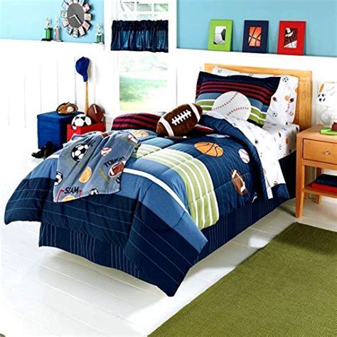 Sport Bed Sets 5 Pc Bed In Bag Boys All Sports Bedding Comforter Sheet Bed Set Kid Bedroom Ebay