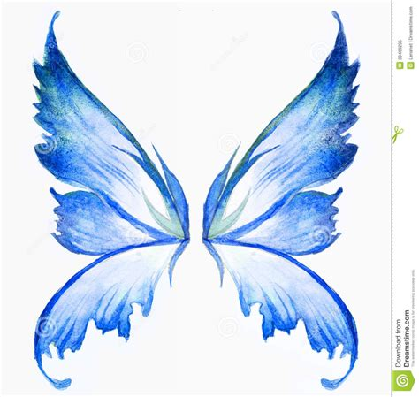 watercolor tattoo wings wings blue wings watercolor draw