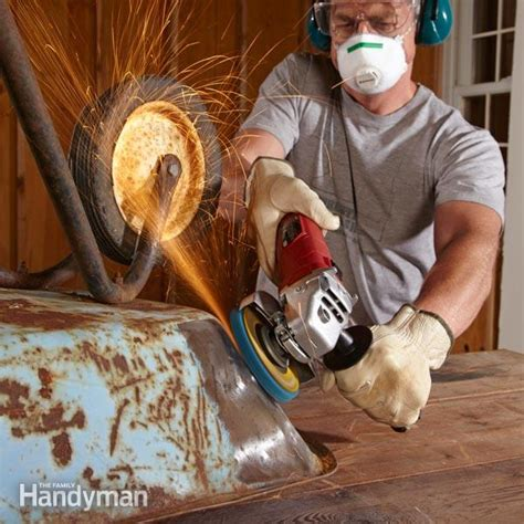 Removing Paint From Metal Furniture by How To Remove Rust The Family Handyman
