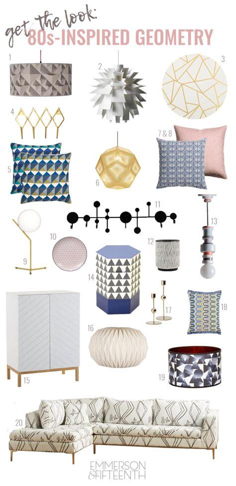 80s home decor trend round up 80s geometrics home decor emmerson