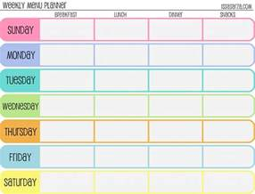 menu chart template come what may menu planning