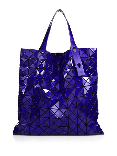 Issey Miyake Bao Bao Prism Basic Tote P225 lyst bao bao issey miyake prism basic metallic faux leather tote in blue