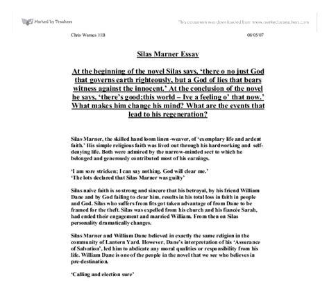 Silas Marner Essay Questions by Silas Marner Community Essay