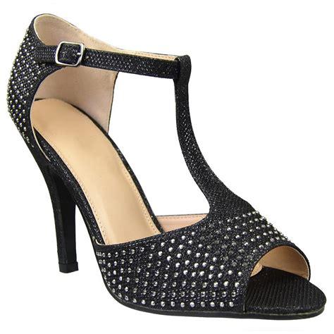 Wedges Emboss Glitter Flare Dress womens dress sandals rhinestone studded glitter high heel shoes black pricefalls marketplace