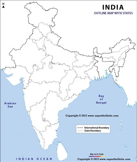 India Political Map Outline With States by Outline Map Of India New Calendar Template Site