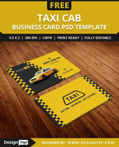 taxi business cards templates free free taxi cab business card template psd on behance