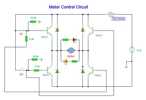 dc motor circuit electronic circuit schematic