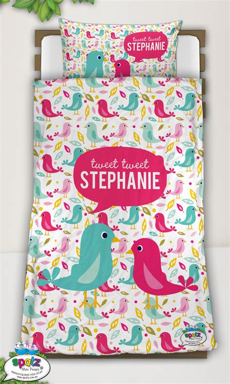 Personalised Quilt Covers by Personalised Quilt Covers Spatz Mini Peeps 174