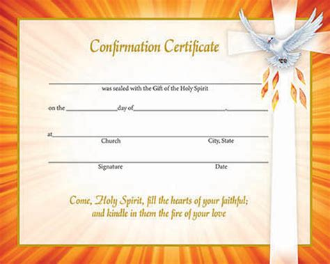 Confirmation Certificate Template inspirational confirmation certificates box of 50