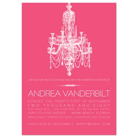 Chandelier Invitations Bridal Shower Invitations Chandelier At Minted