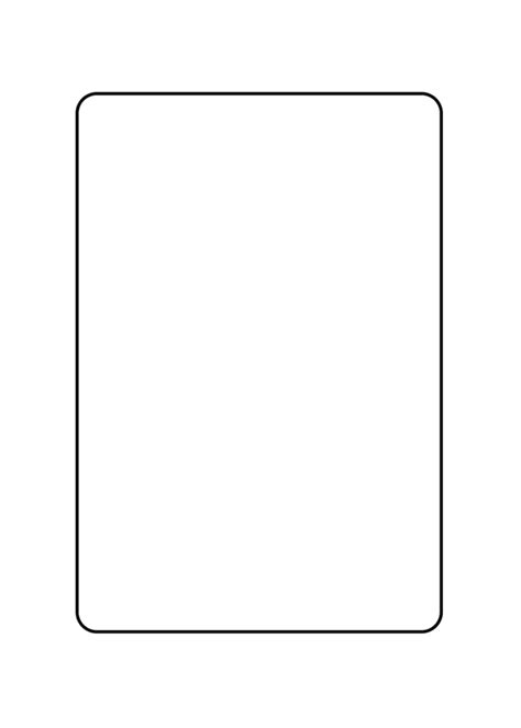 blank card rectangle curved corners template blank card png www imgkid the image kid