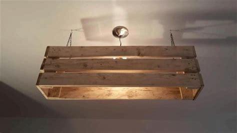 Diy Pallet Ceiling Light Pallet Furniture Diy Pallet Light Fixture