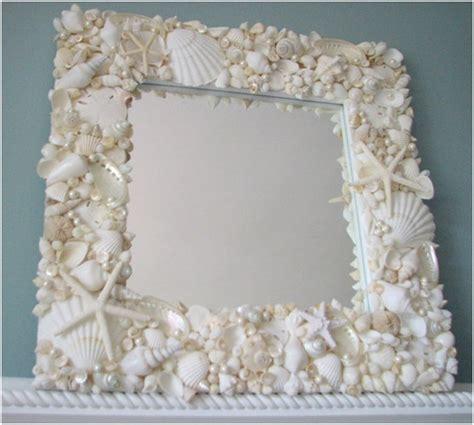 outstanding beachy bathroom diy shell mirror shell 29 gorgeous ideas for bathroom wall decor printmeposter